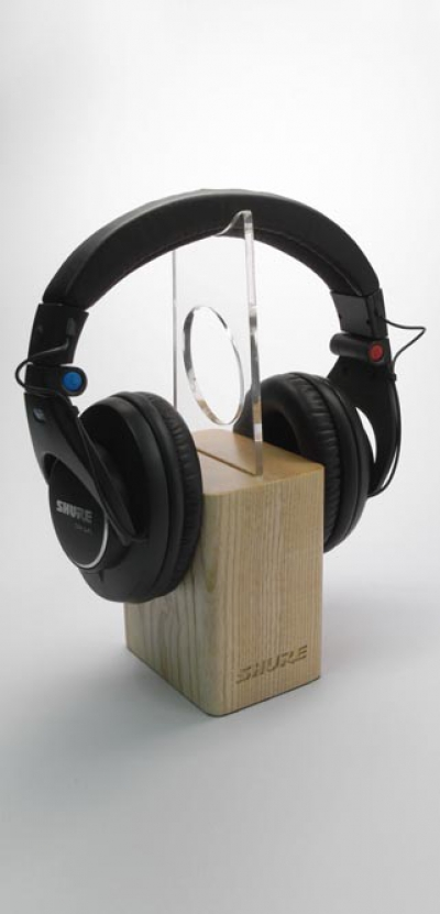 Shure Headphone Wooden Display Stand